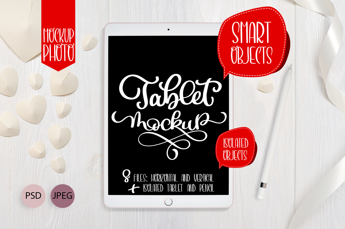 Download Free Tablet Ipad Pro Mock Up Set Graphic By Happy Letters Creative SVG Cut Files