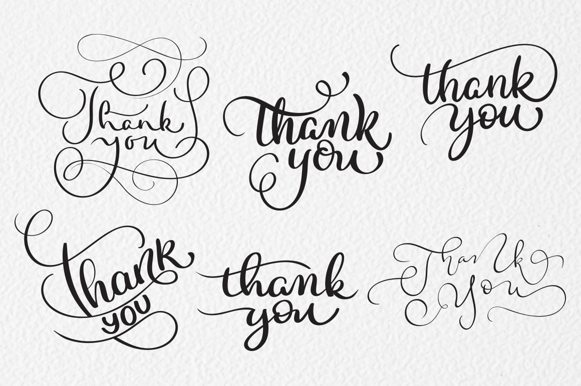 Thank You Calligraphy Lettering Collection Graphic Illustrations By Happy Letters - Image 5
