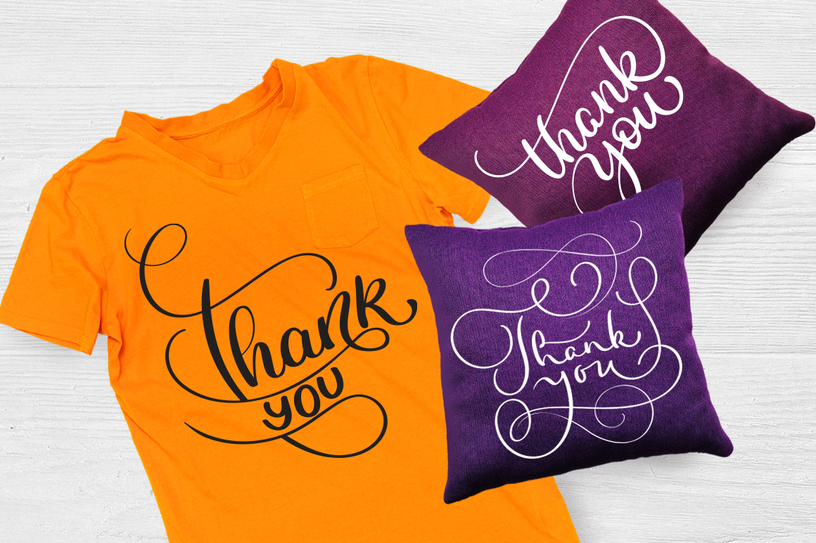 Thank You Calligraphy Lettering Collection Graphic Illustrations By Happy Letters - Image 6