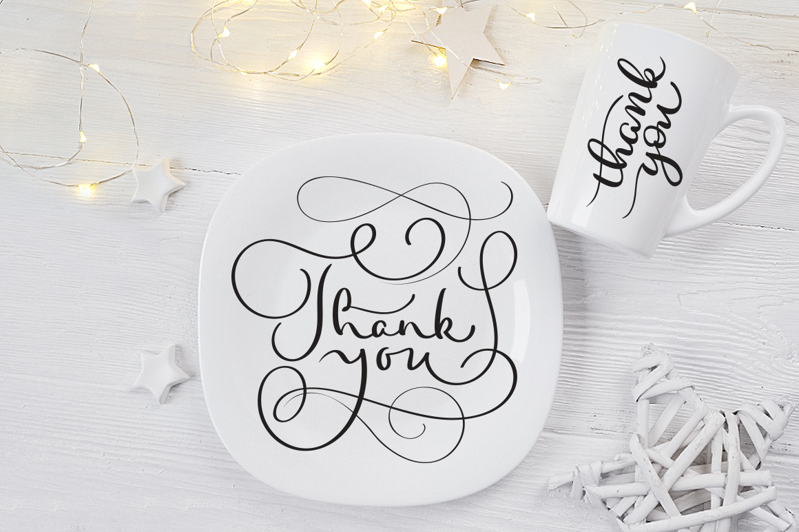 Thank You Calligraphy Lettering Collection Graphic Illustrations By Happy Letters - Image 7