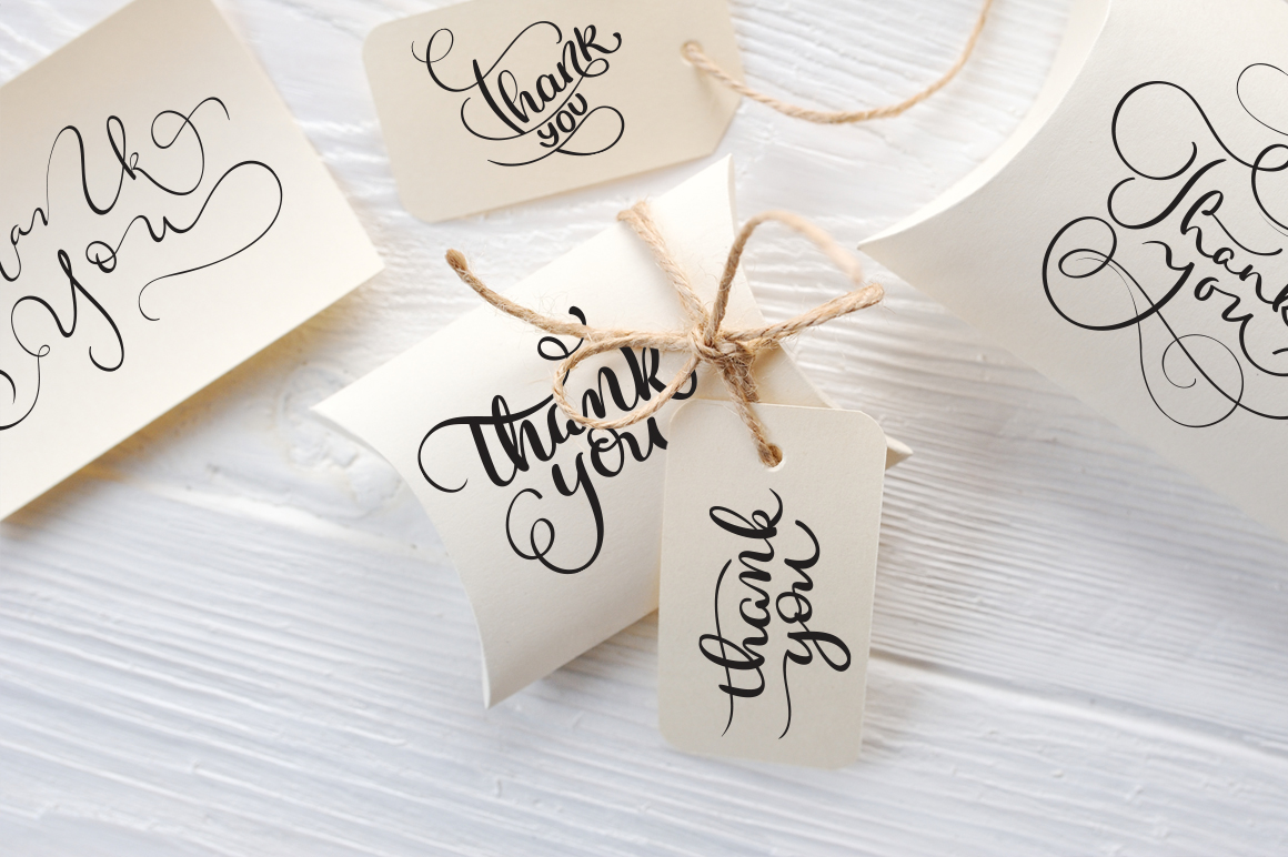 Thank You Calligraphy Lettering Collection Graphic Illustrations By Happy Letters - Image 8