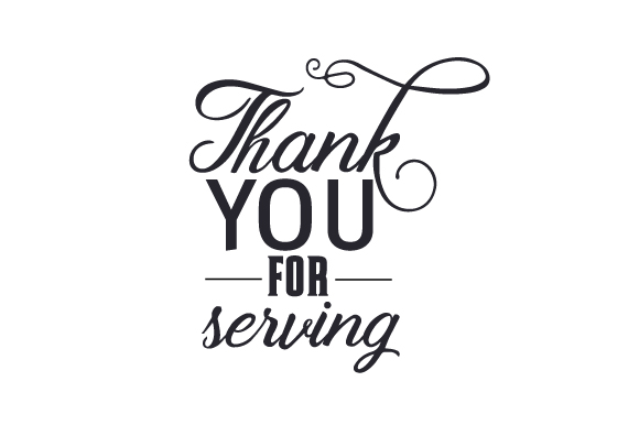 Download Free Thank You For Serving Svg Cut File By Creative Fabrica Crafts for Cricut Explore, Silhouette and other cutting machines.