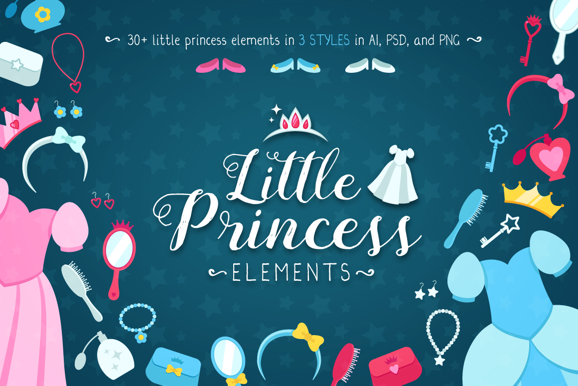 Download Free The Little Princess Set Graphic By The Stock Croc Creative Fabrica for Cricut Explore, Silhouette and other cutting machines.