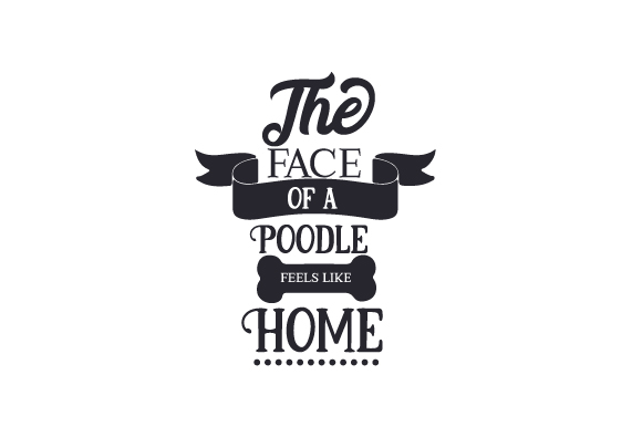 Download Free The Face Of Poodle Feels Like Home Svg Cut File By Creative for Cricut Explore, Silhouette and other cutting machines.
