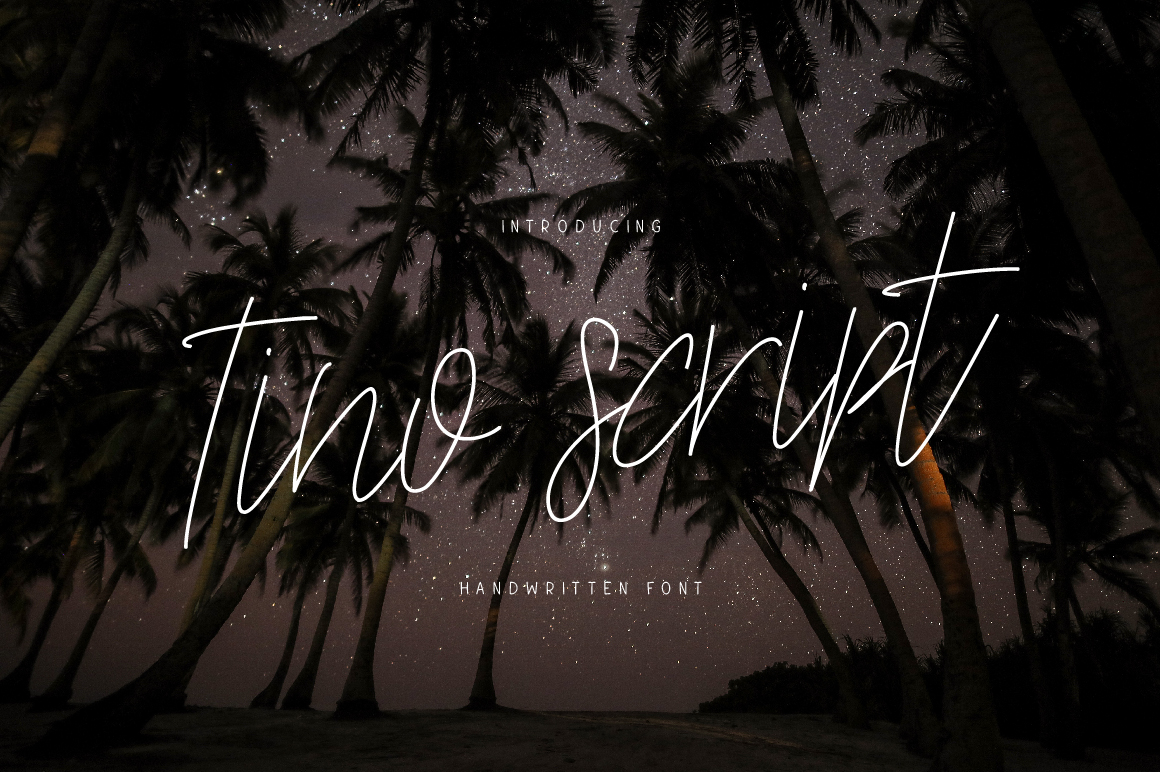 Tino Script Font By ChekArt