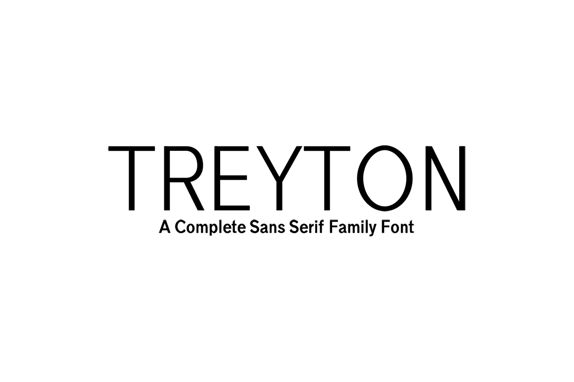 Print on Demand: Treyton Sans Serif Font By Creative Tacos
