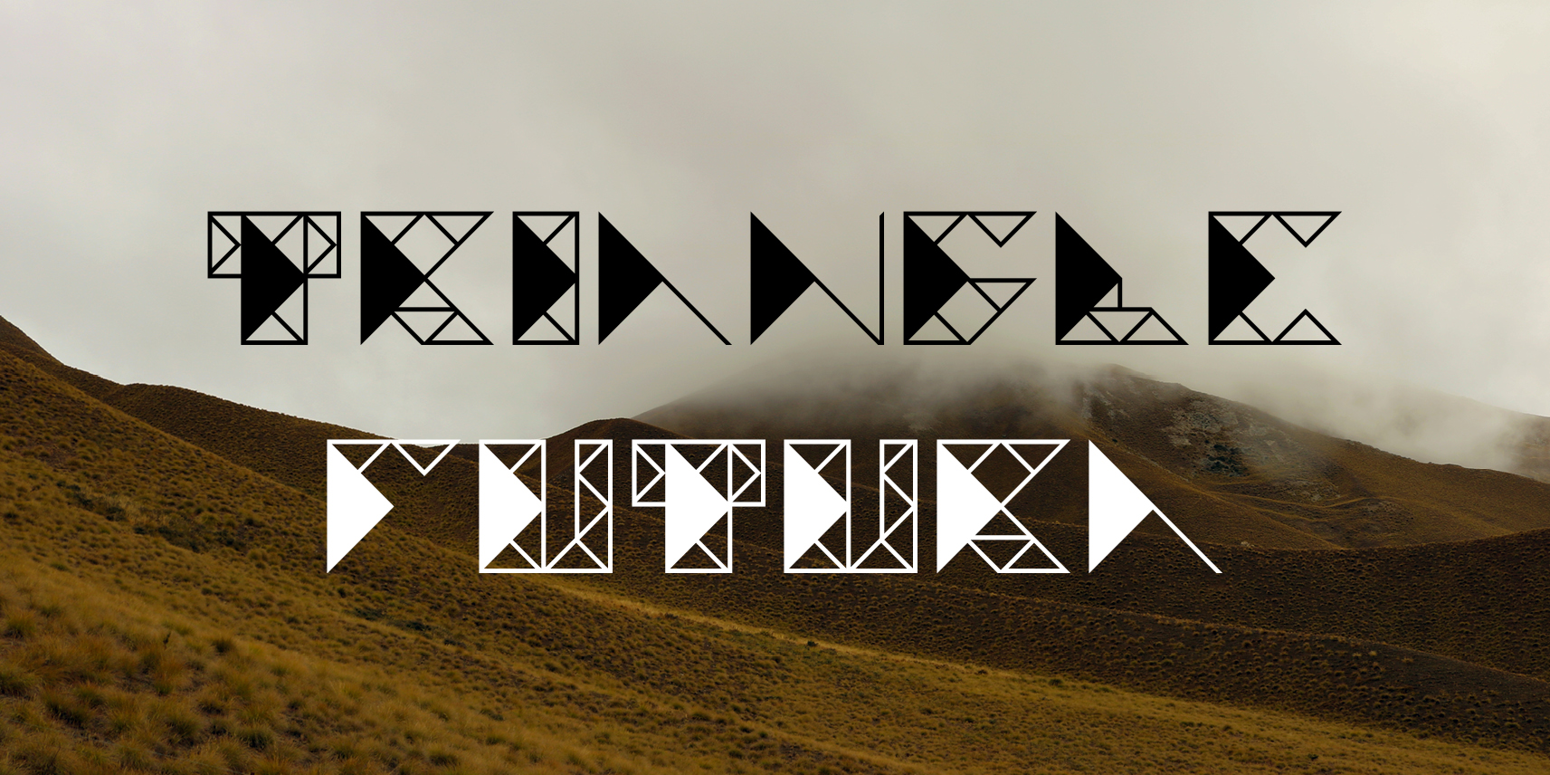 Print on Demand: Triangle Futura Display Font By stethesign