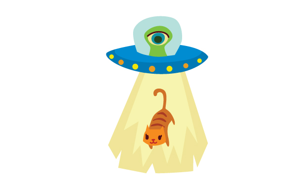 UFO Cat Abduction Cats Craft Cut File By Creative Fabrica Crafts