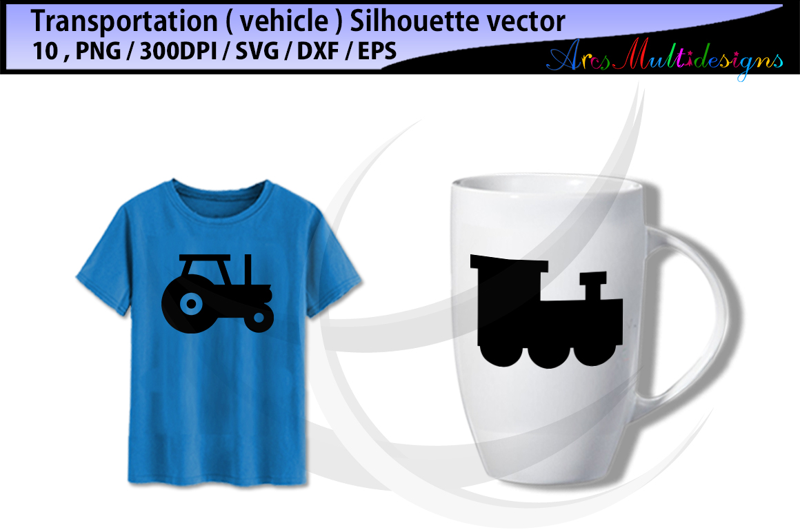 Print on Demand: Vehicle Silhouette Set Graphic Icons By Arcs Multidesigns - Image 2