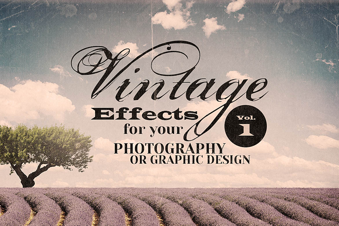 Print on Demand: Vintage Effects for Photo or Designs Graphic Textures By JumboDesign