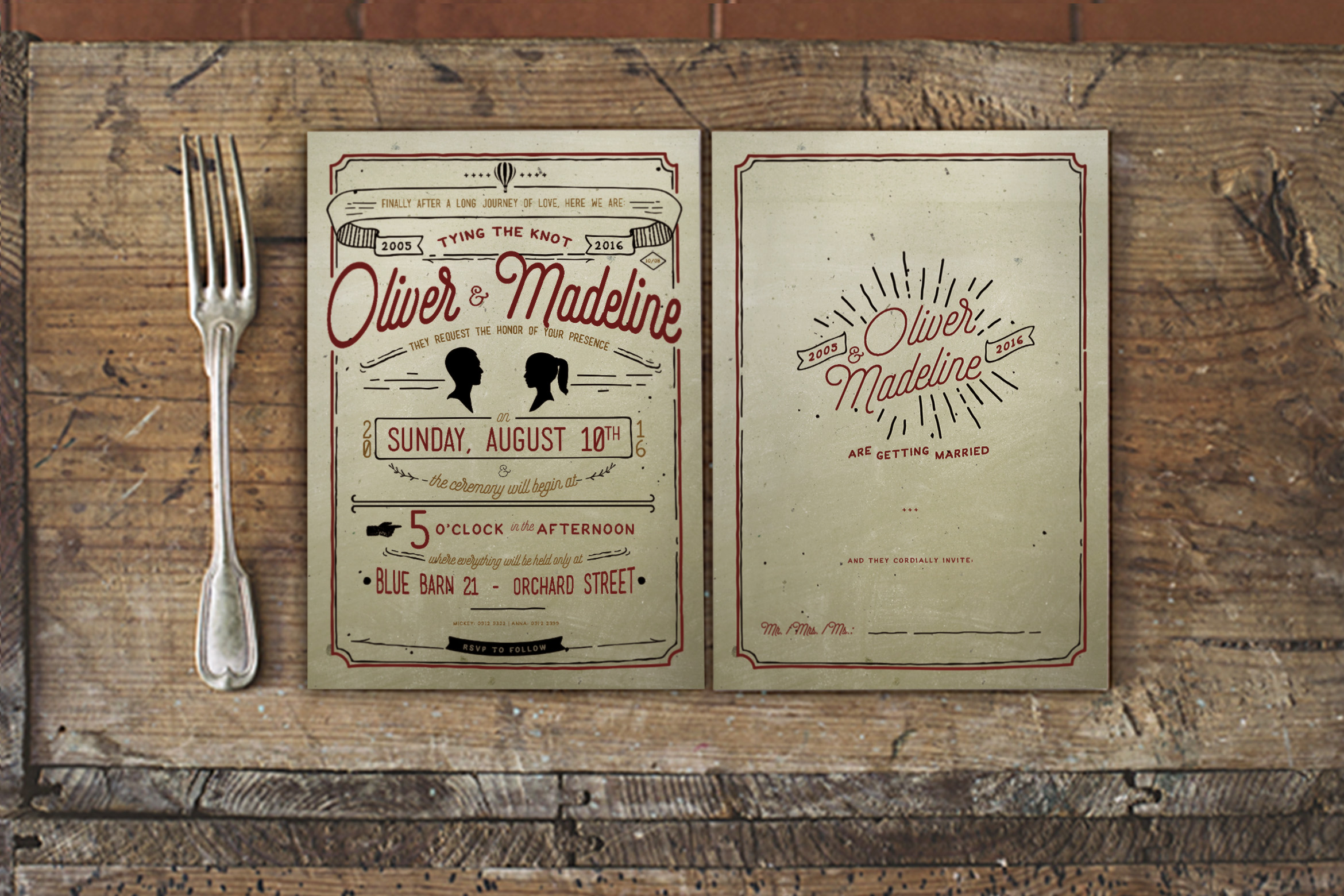 Download Free Vintage Hand Lettering Wedding Invitation Graphic By Blue Robin for Cricut Explore, Silhouette and other cutting machines.