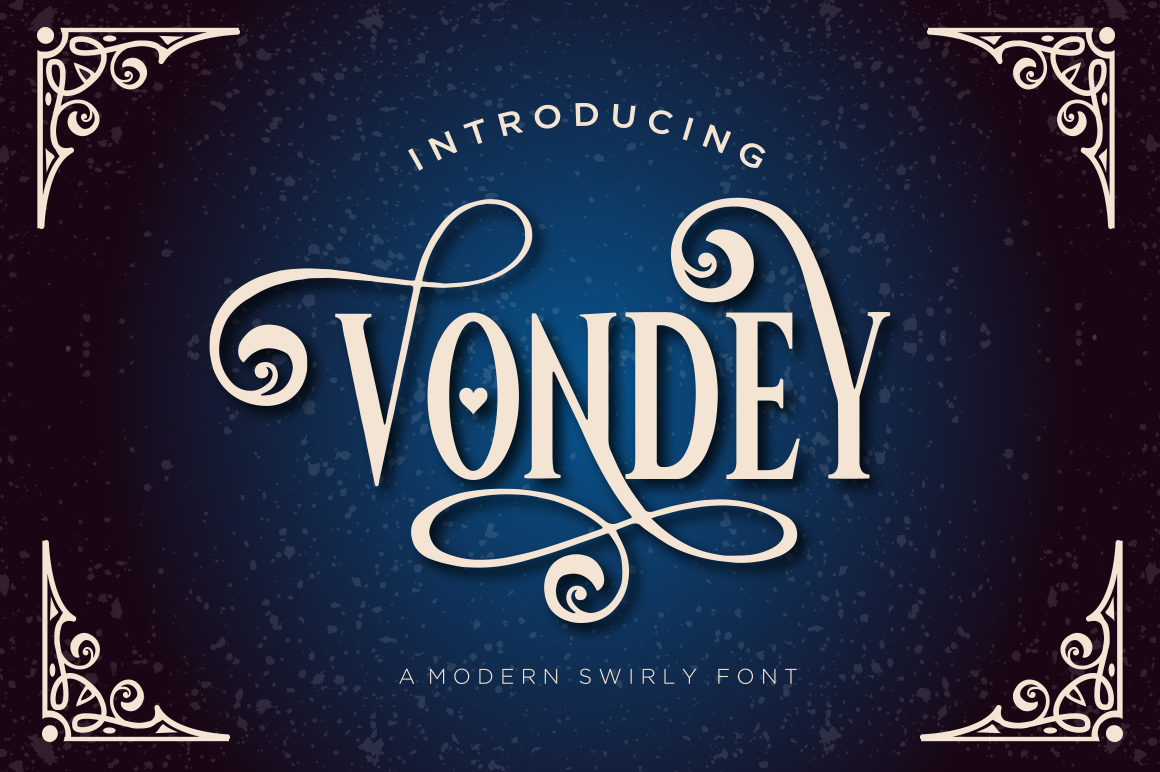 Print on Demand: Vondey Display Font By BlackCatsMedia