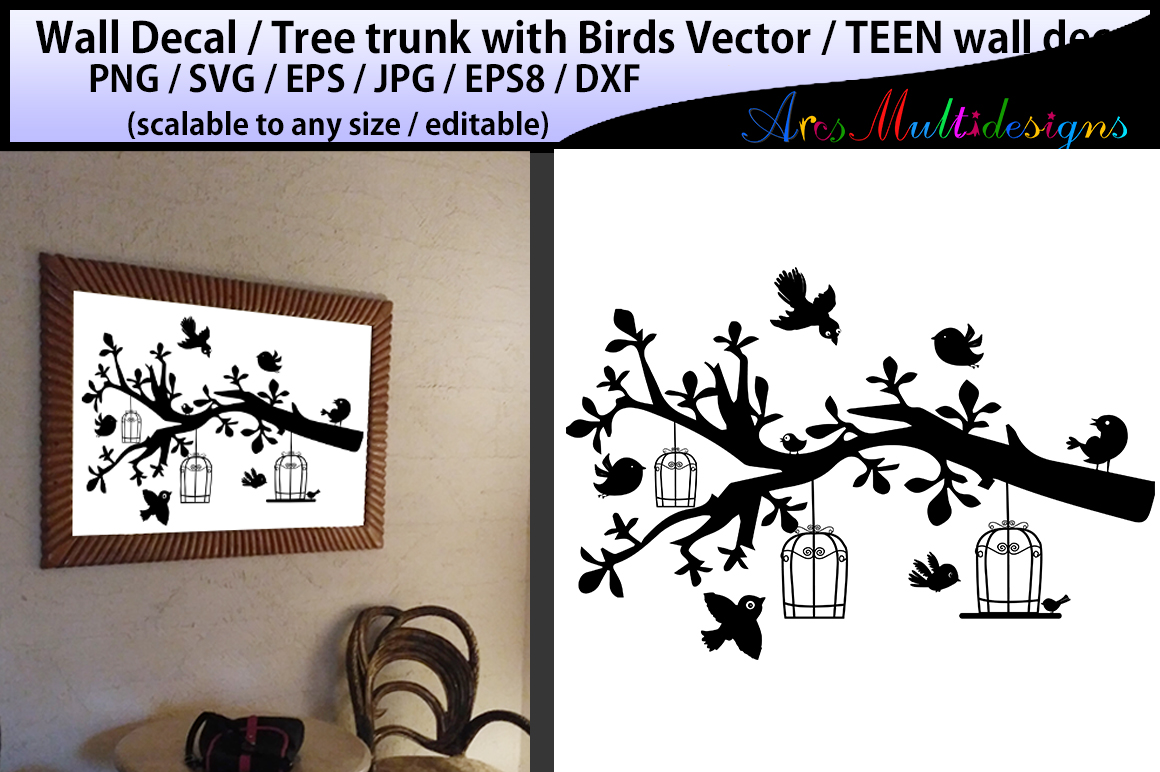 Print on Demand: Wall Decal Silhouette Graphic Crafts By Arcs Multidesigns