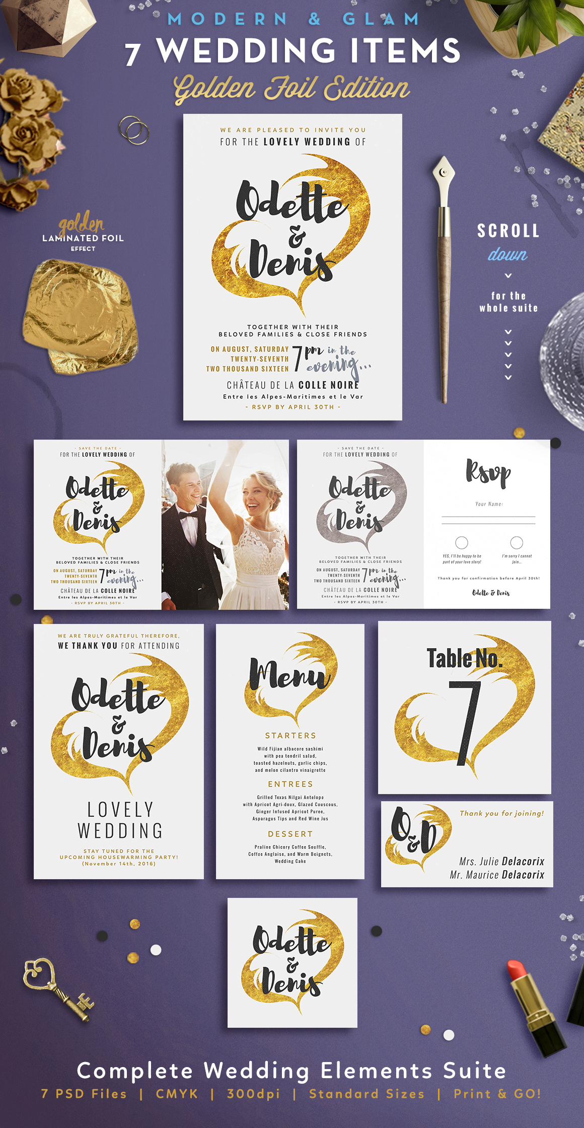 Wedding Suite I Golden Foil Edition Graphic By lavie1blonde