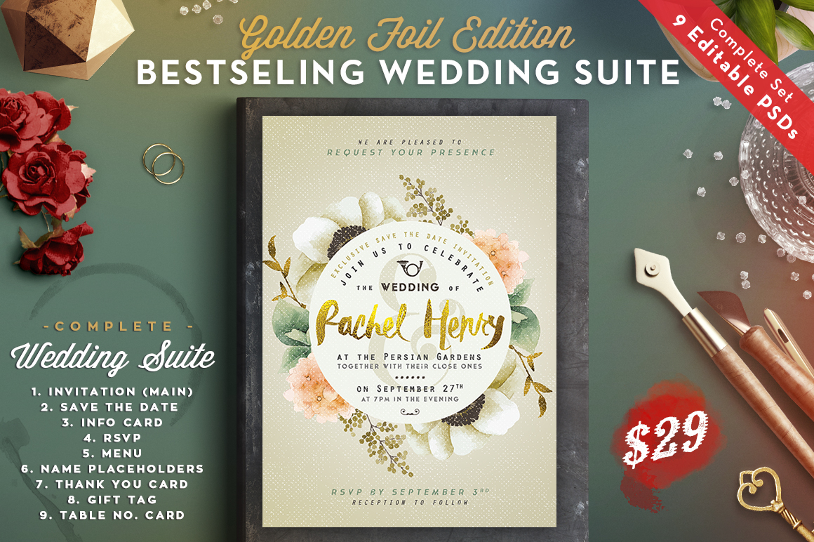 Wedding Suite IV for Bestseller Card Graphic By lavie1blonde