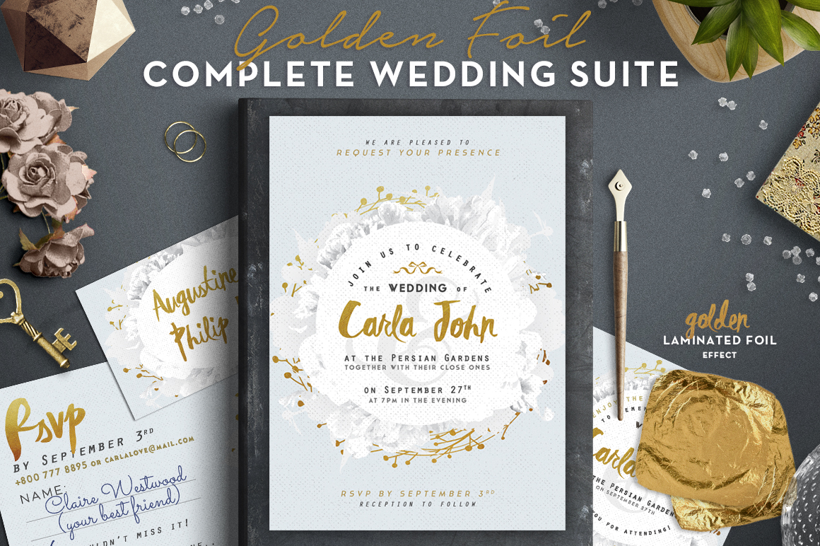 Print on Demand: Wedding Suite V - Bestseller Item Graphic Print Templates By lavie1blonde