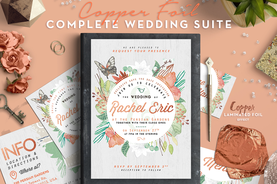 Print on Demand: Wedding Suite VI - Bestseller Item Graphic Print Templates By lavie1blonde