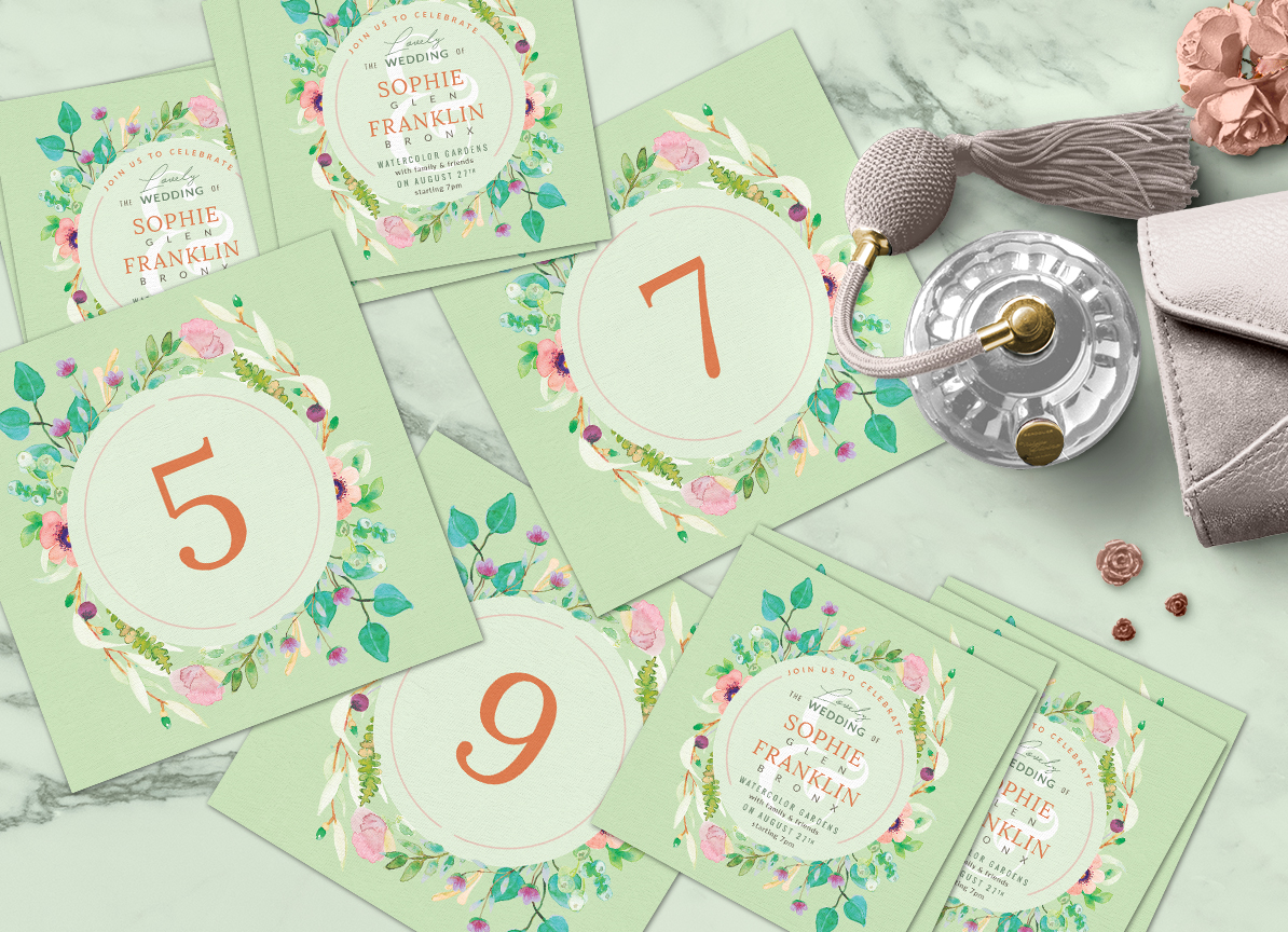 Wedding Suite XI Lovely Greenery III Graphic Print Templates By lavie1blonde - Image 8