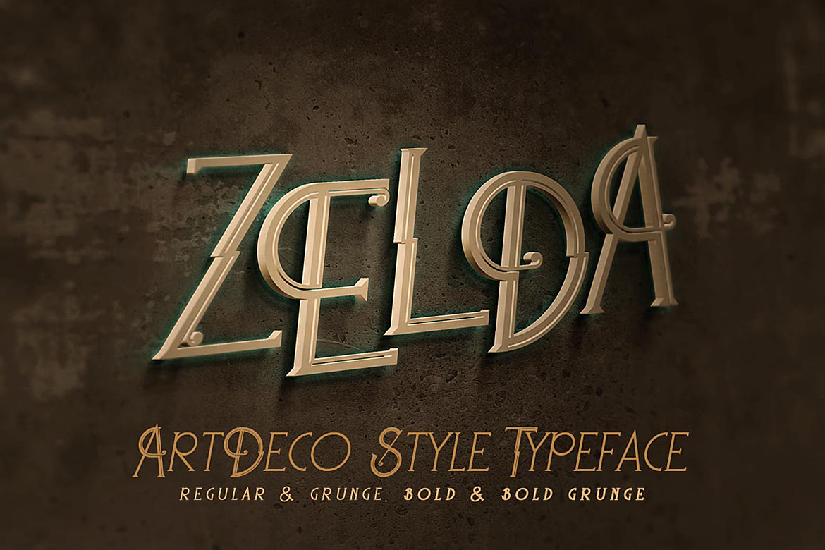 Print on Demand: Zelda Display Font By JumboDesign