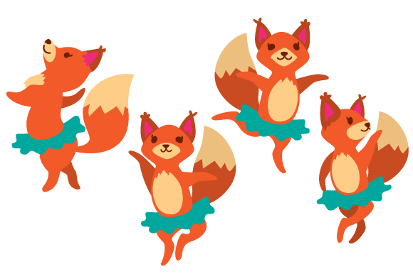 Download Free Foxes Wearing A Tutu Svg Cut File By Creative Fabrica Crafts for Cricut Explore, Silhouette and other cutting machines.