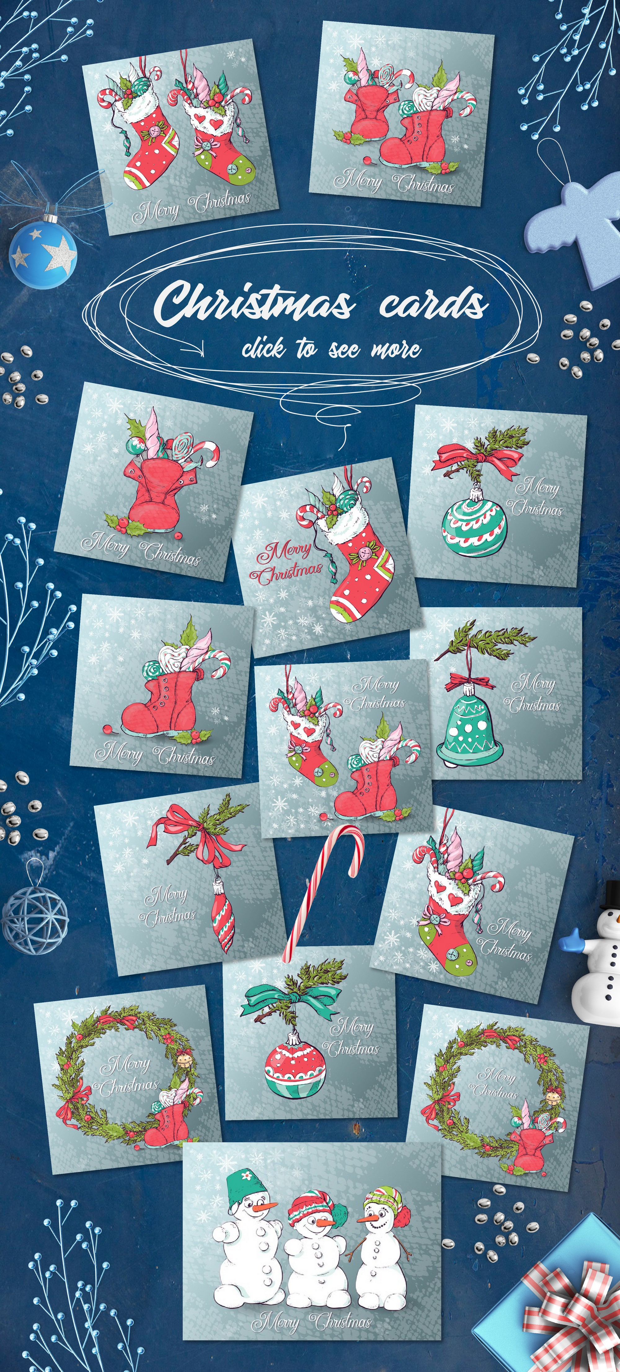 Download Free Merry Christmas Graphic Collection Graphic By Nicjulia for Cricut Explore, Silhouette and other cutting machines.