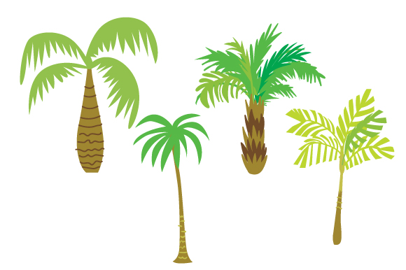 Palm Trees Set Summer Craft Cut File By Creative Fabrica Crafts