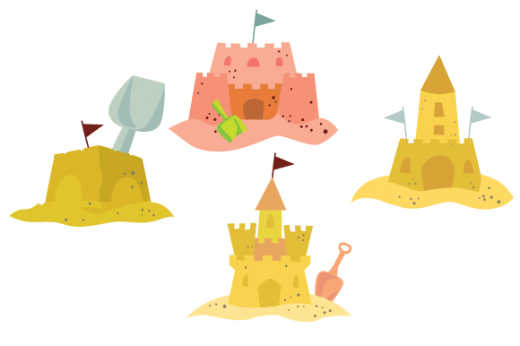 Download Free Sand Castles Set Svg Cut File By Creative Fabrica Crafts for Cricut Explore, Silhouette and other cutting machines.