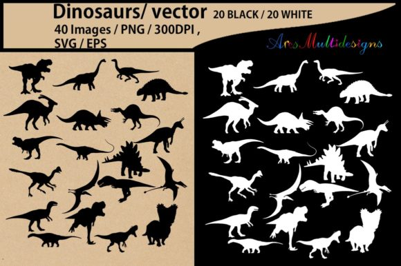 Print on Demand: Dinosaurs Silhouette  Graphic Illustrations By Arcs Multidesigns