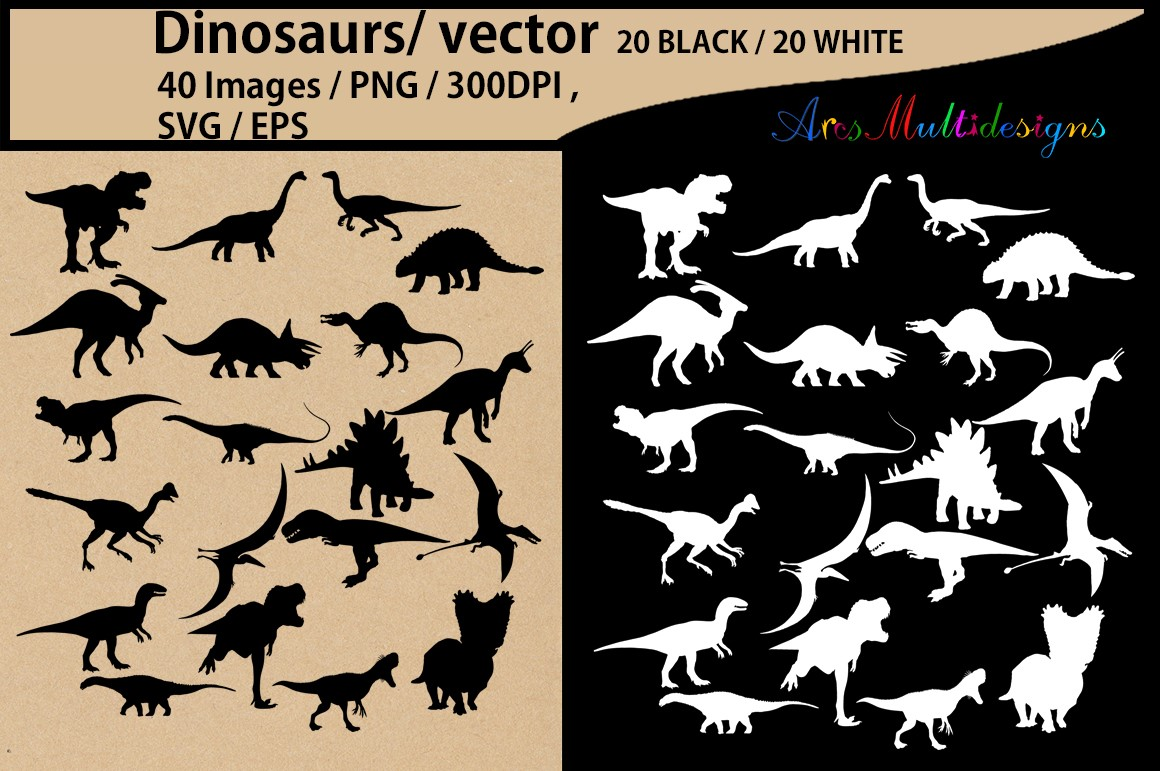 Download Free Dinosaurs Silhouette Graphic By Arcs Multidesigns Creative Fabrica SVG Cut Files