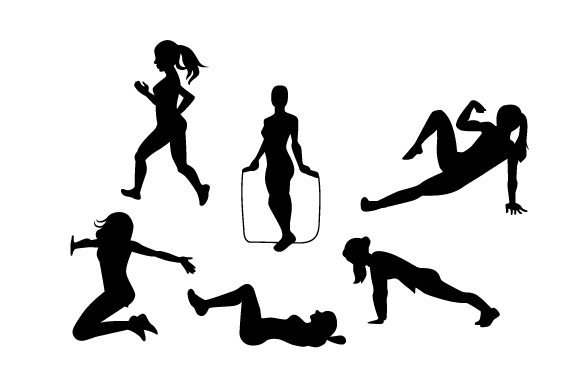 Download Free Active Women Silhouettes Svg Cut File By Creative Fabrica Crafts for Cricut Explore, Silhouette and other cutting machines.