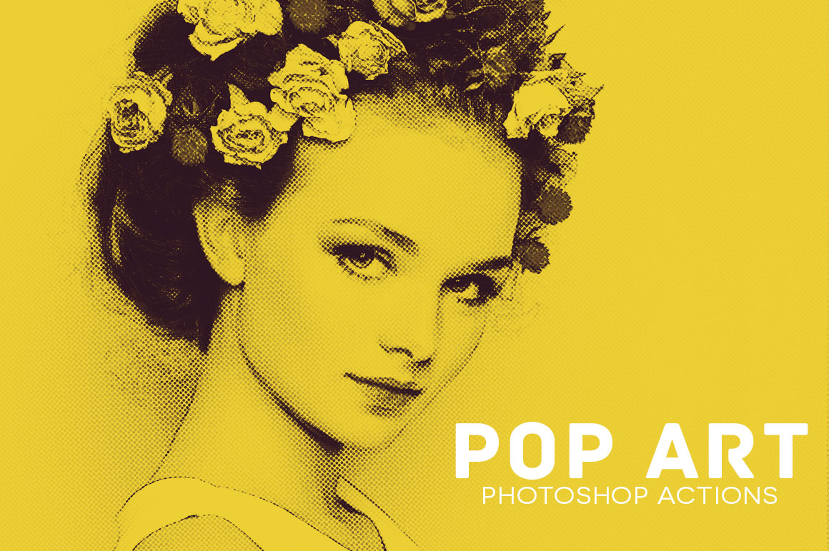 Print on Demand: 20 Pop Art Photoshop Actions Graphic Actions & Presets By Creative Tacos