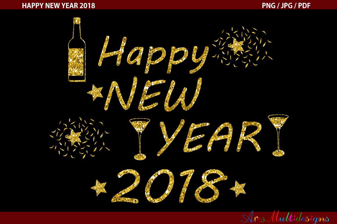 2018 New Year Graphic Graphic By Arcs Multidesigns