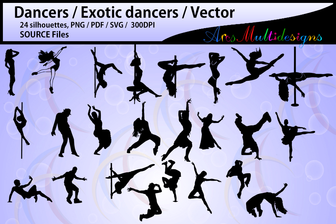 Print on Demand: 24 Dancer Silhouettes Graphic Crafts By Arcs Multidesigns