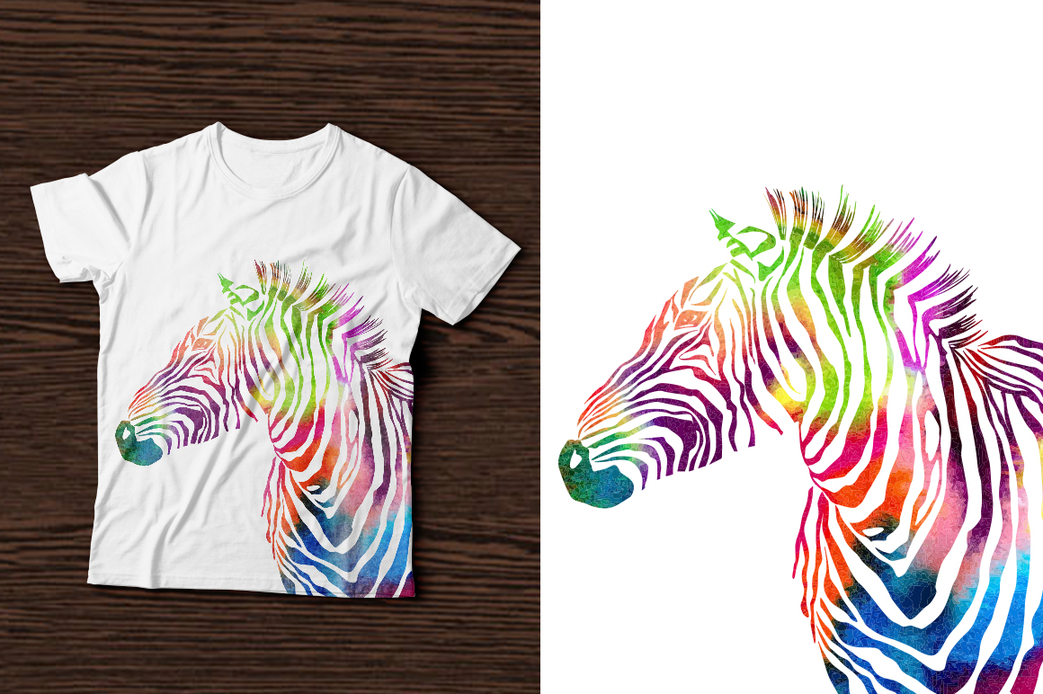3 Zebra Print Set Graphic Illustrations By alisared87