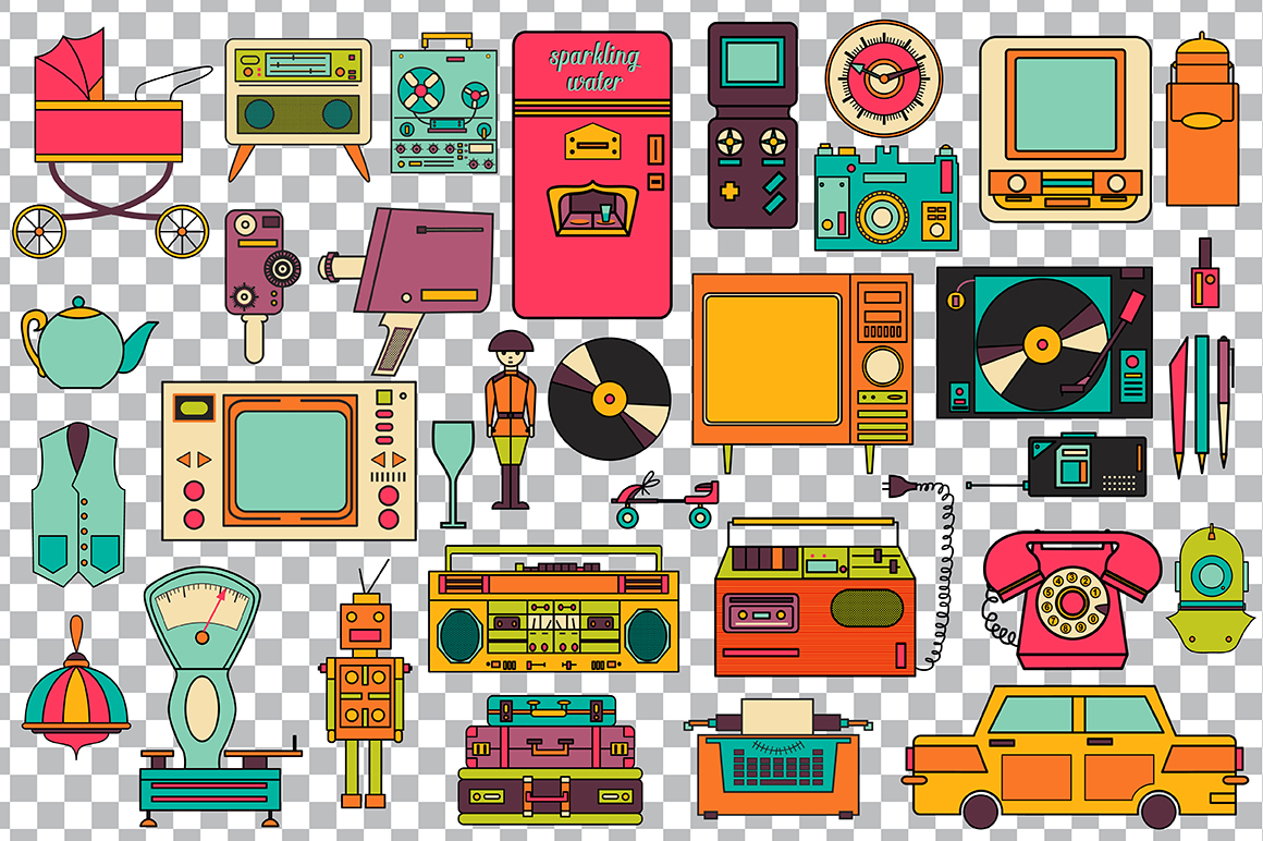 32 Retro Icons 80-90s Collection Graphic Icons By alisared87 - Image 6