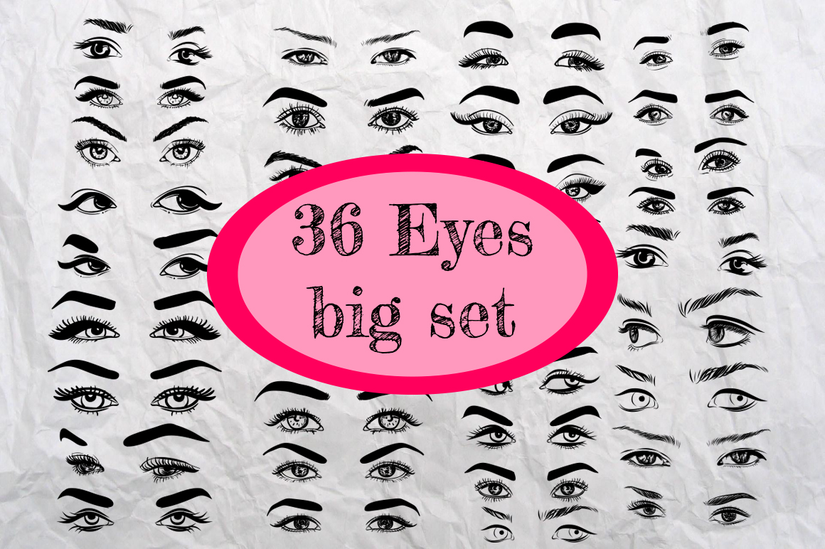 36 Eyes Big Set Graphic Illustrations By alisared87