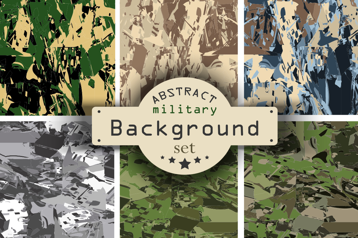6 Camouflage Backgrounds Collection Graphic Illustrations By alisared87