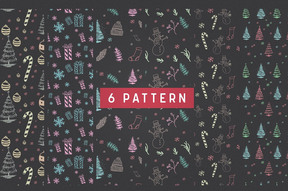 66 Cute Christmas Patterns & Graphic Graphic Illustrations By bloomxxvi - Image 3