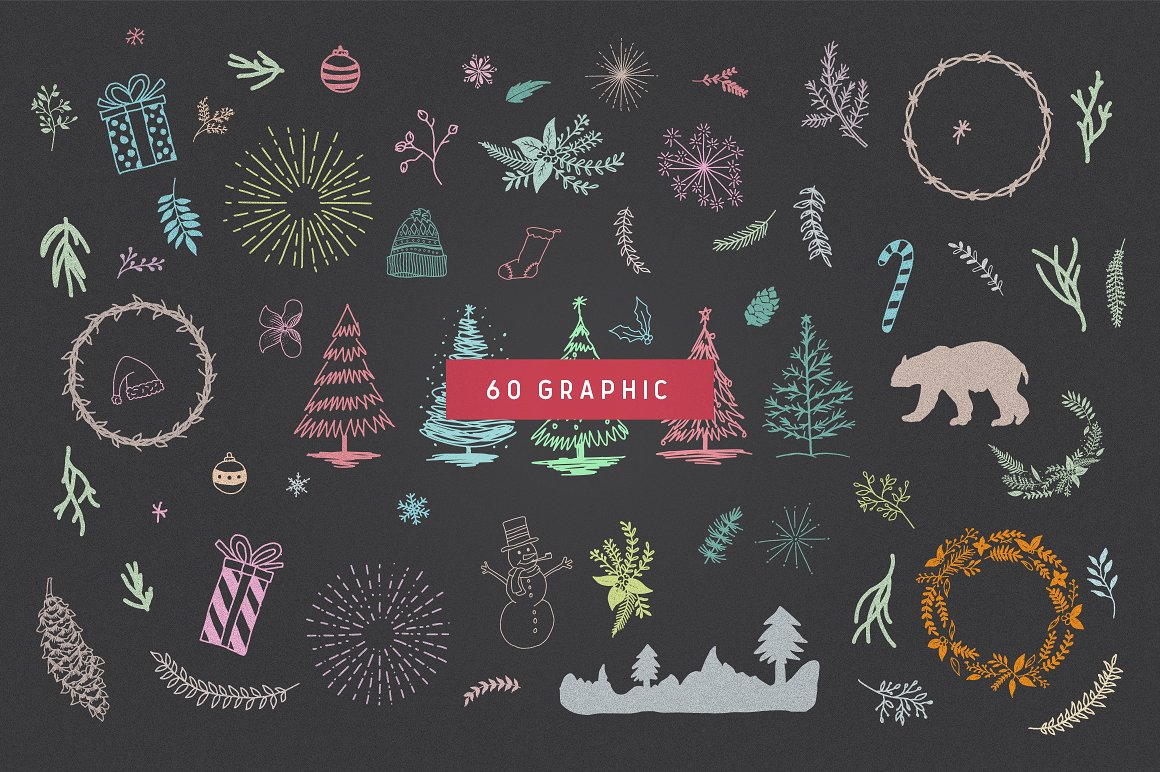 66 Cute Christmas Patterns & Graphic Graphic Illustrations By bloomxxvi - Image 4
