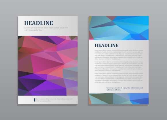7 abstract vector modern brochure design templates