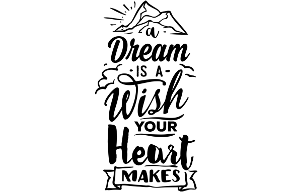 Download Free A Dream Is A Wish Your Heart Makes Svg Cut File By Creative for Cricut Explore, Silhouette and other cutting machines.
