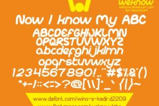 ABC Font By weknow