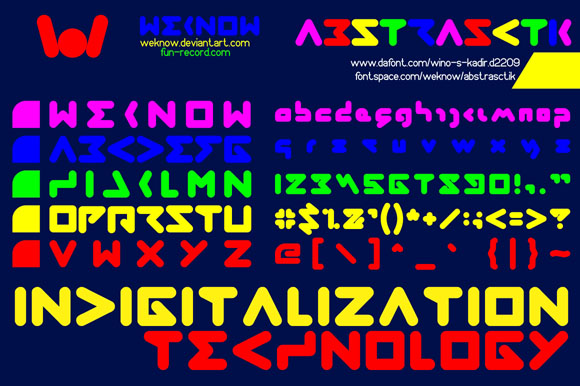 Print on Demand: Abstrasctik Display Font By weknow