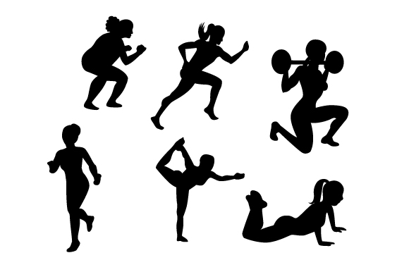 Download Free Active Woman Silhouettes Svg Cut File By Creative Fabrica Crafts for Cricut Explore, Silhouette and other cutting machines.