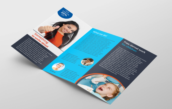 Adobe InDesign Tri-fold Brochure Template Graphic by raya0706 ...