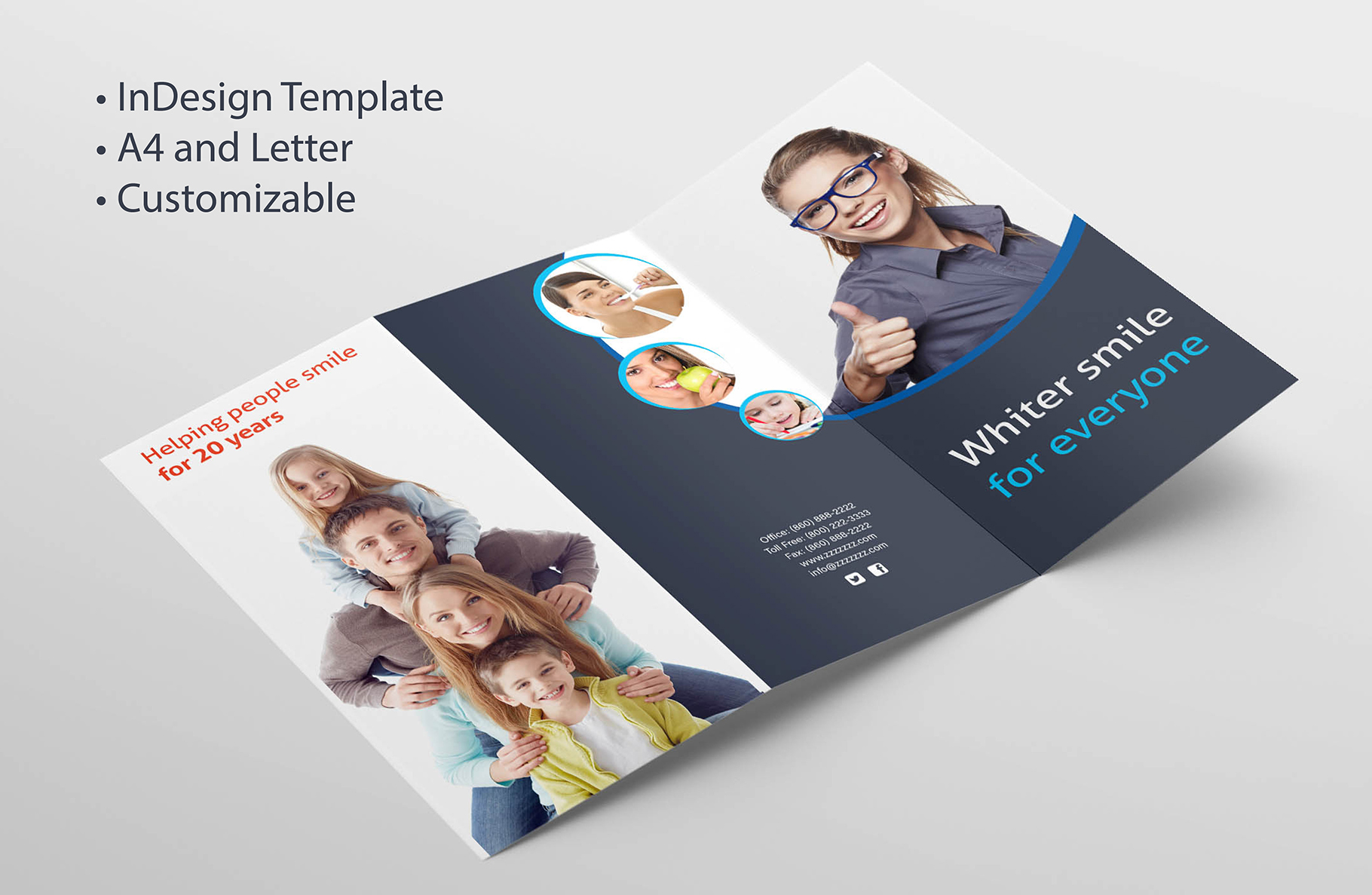 tri fold brochure template pages - adobe indesign tri fold brochure template graphic by