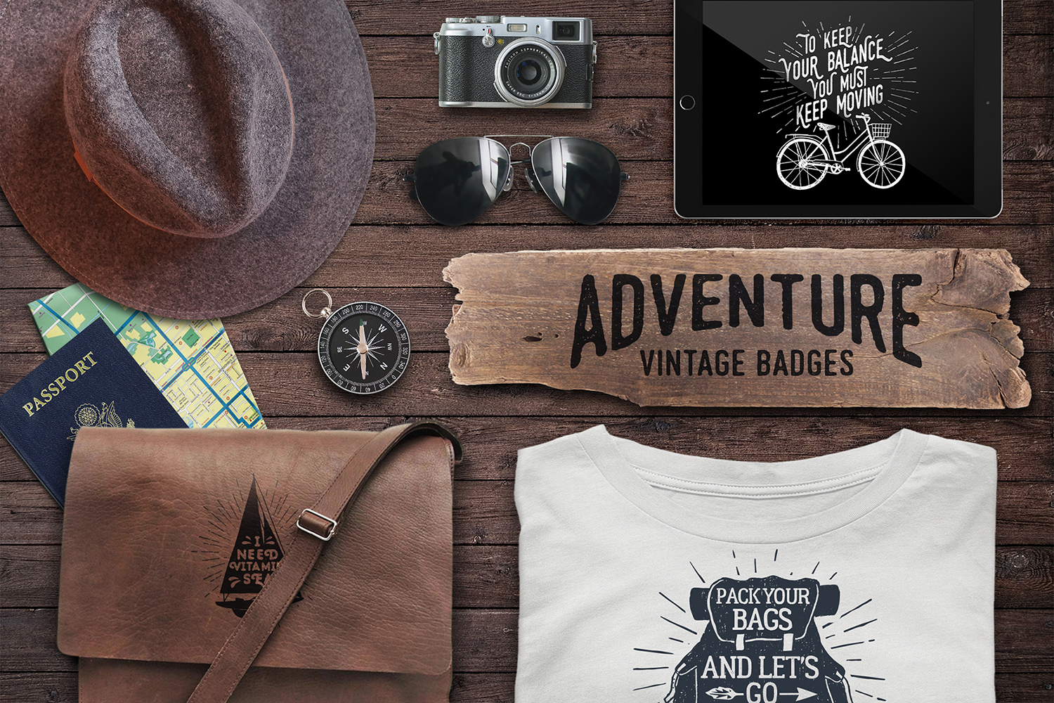 Adventure Vintage Badges Graphic By Cosmic Store Image 4