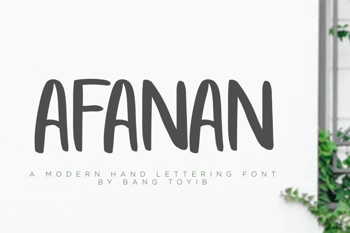 Print on Demand: Afanan Sans Serif Font By Eldertype Studio