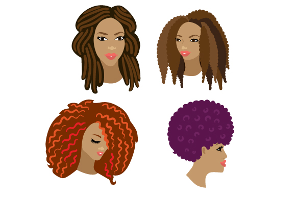 Afro Women Designs & Drawings Craft Cut File By Creative Fabrica Crafts