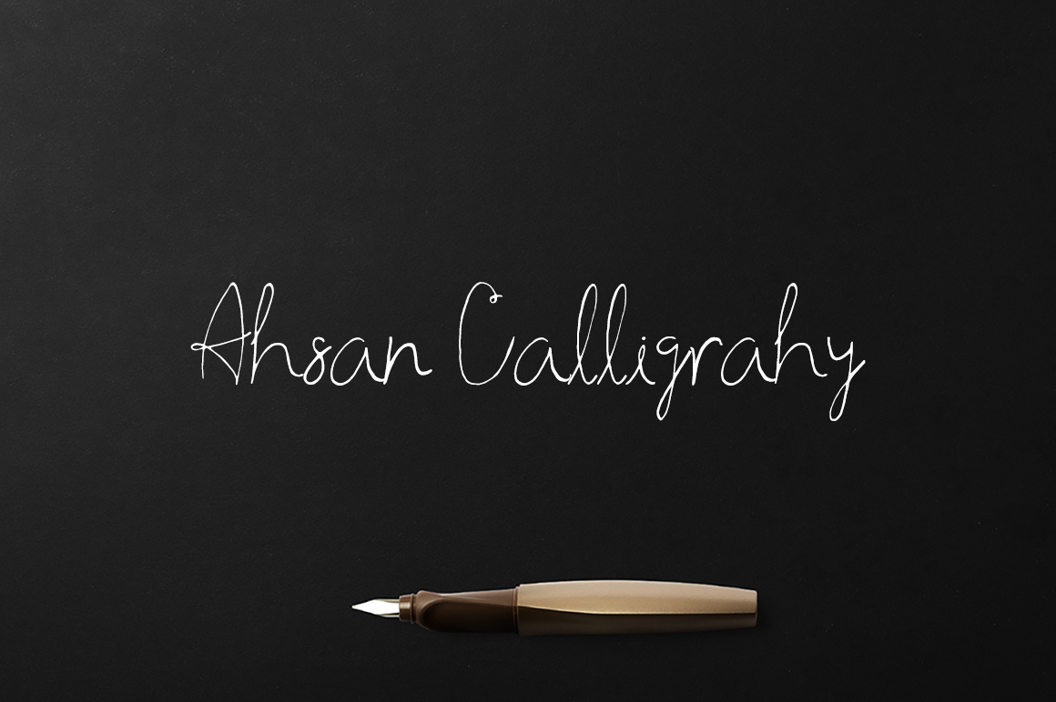 Print on Demand: Ahsan Calligraphy Script & Handwritten Font By Creative Tacos